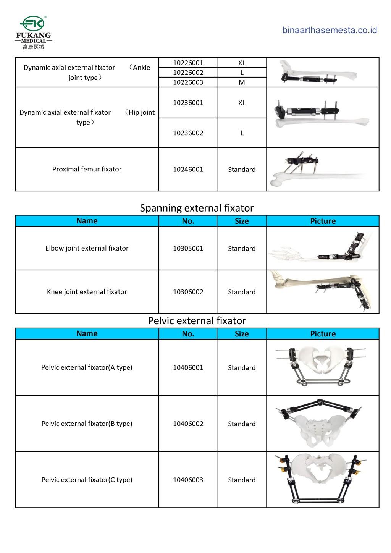 Daftar produk Fukang  Eksternal Fiksator 002