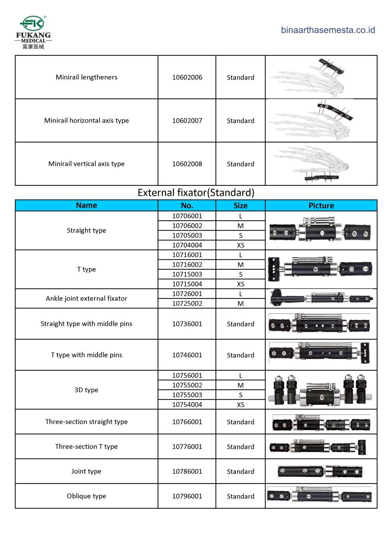 Daftar produk Fukang Eksternal Fiksator 004