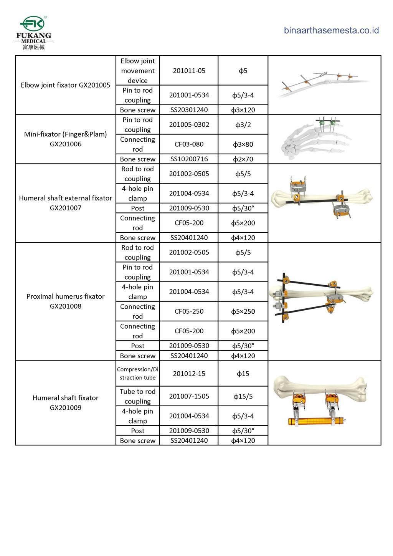 Daftar produk Fukang Eksternal Fiksator 006